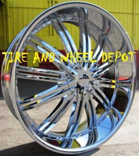 24 inch RSW99 Rims and Tires Crown Vic Marauder Grand Marquis Chrysler