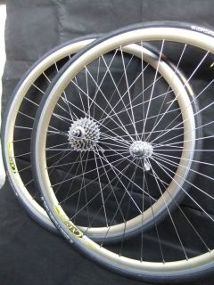 WHEEL SET Campagnolo C RECORD hubs Mavic CXP30 GOLD rims 32H VGC