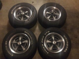 15 inch Pontiac Rally Rims Wheels Set GTO Firebird