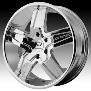 22 inch Lorenzo WL030 Chrome Wheels Rims 5x4 5 5x114 3 azera Elantra