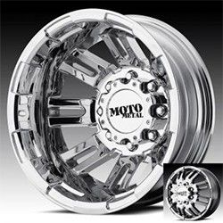 Moto Metal Bright PVD Dually Wheels Rims 8x170 Ford F 250 350