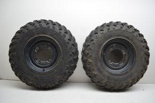 00 Polaris Sportsman 500 Front Wheels Rims Carlisle 25 Tires