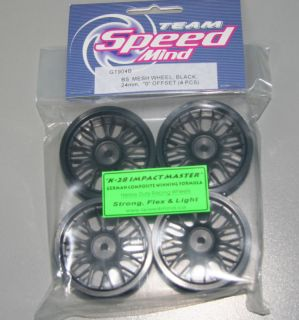 Speedmind BBs Rims Wheel 1 10 Touring Car Black GT904B
