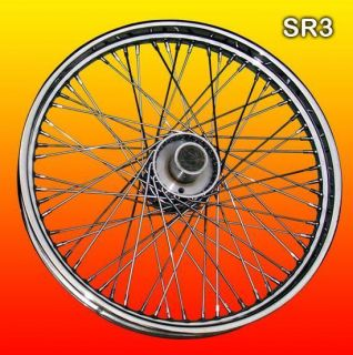 Chrome 60 Spoke Front Wheel Rim Wheels Rims for Harley
