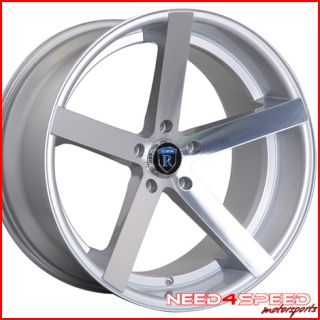 370Z Rohana RC22 Deep Concave Silver Staggered Wheels Rims