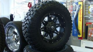 17 Fuel Hostage Black Wheels 33x12 50 17 Mickey MTZ