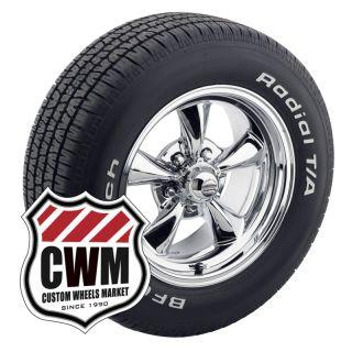15x7 Chrome Wheels Rims BFG Tires 205 60R15 225 60R15 for Chevy II