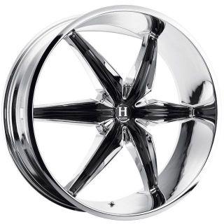 24 inch Helo HE866 Chrome Wheels Rims 6x5 6x127 32