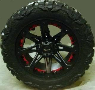 18 Jester Rims 37x13 50x18 Nitto Mud Grappler Tires