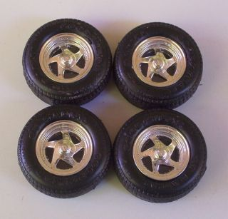 Goodyear GT Radial Tires 4 Mag Wheels 1 24 Model Car Parts 19 Used