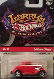 Window 34 Ford Real Riders Tires Hot Wheels Larrys Garage
