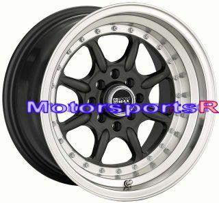 15 15x8 XXR 002 Gun Metal Rims Wheels 4x4 5 Deep Dish 71 Datsun 240z