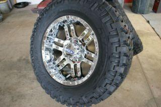 20 inch Chrome Moto 951 Nitto Trail Rims Tire Pkg 37