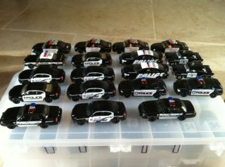 Lot of Matchbox and Hot Wheels Police Cars