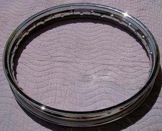 WM2 1.85 X 18  36 hole new Chrome steel vintage motorcycle rim by
