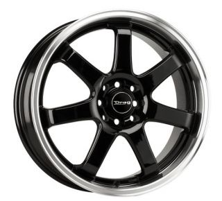 Drag Wheels DR35 17 Rims Gloss Black 4 Lugs 42 Offset