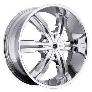 24 inch Strada Vetro Chrome Wheels Rims 5x4 5 5x114 3 Infiniti G35 G37