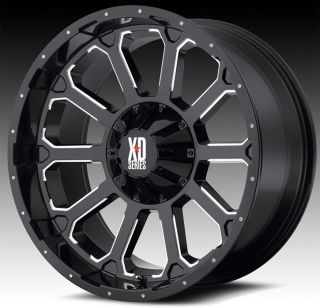 20 KMC XD806 BOMB BLACK RIMS LT 37X12 50X20 NITTO TRAIL GRAPPLER TIRES
