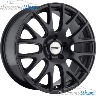 17x8 TSW Mugello 5x110 40mm Matte Black Rims Wheels inch 17