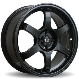 15 ROTA GRID BLACK RIMS WHEELS 15x6.5 +38 4x100 INTEGRA CIVIC MINI
