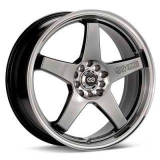 Enkei EV5 Rims Hyper Black 17x7 5x100 5x114 3 38 4 New Wheels