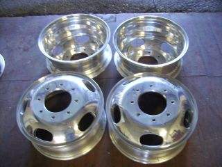 FORD F SERIES 8X200 BOLT HIGH POLISHED FACTORY OEM DUALLY WHEELS RIMS