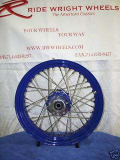 Ride Wright Wheel 40 Spoke 16x3 5 Blue Hub and Rim