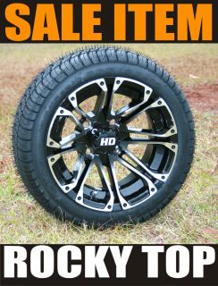 Sale 12x7 STI HD3 Golf Cart Wheels and 205 30 12 Low Profile Tires