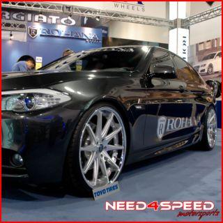 20 BMW E39 M5 Rohana RC10 Concave Staggered Silver Wheels Rims