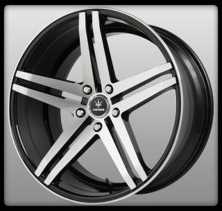 V39 Parallax Black Machined Camaro SL Staggered Wheels Rims