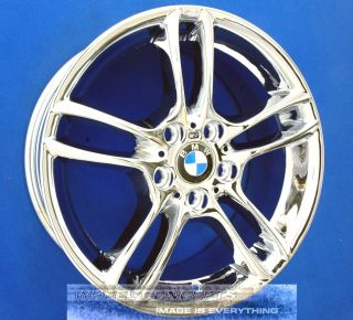 128i 135i 18 INCH WHEELS CHROME EXCHANGE 18 RIMS 128 135 i STYLE 261