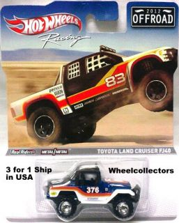 Toyota Land Cruiser FJ40 Hot Wheels Racing Series 2012 Case C Off Road