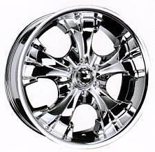 22 Mondera Wheel B52 Chrome Rim Mondera B52 6x5 5
