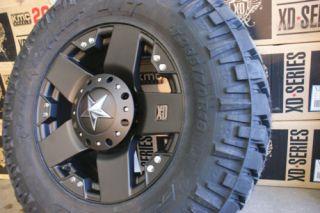 20 XD Rockstar Black Wheels Rims 37 12 50R20 Nitto Trail Grappler MT