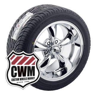 17x8 17x9 Chrome Wheels Rims Tires 235 45ZR17 275 40ZR17 for Chevy Bel
