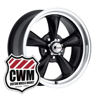 17x7 Black Wheels Rims 5x4 75 Lug Pattern for Chevy Corvette 1966