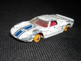 Vintage Lesney Matchbox No 41 Ford GT Race Car