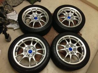 JDM Mugen MF10 wheels rims in Silver 16x7 5x114 +43+50 rare rays volk