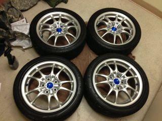 JDM Mugen MF10 wheels rims in Silver 16x7 5x114 +43+50 rare rays volk