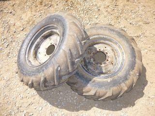 Power King 1614 Tractor Good Year 8 16 Rear Tires & Rims Bar Lug Ag