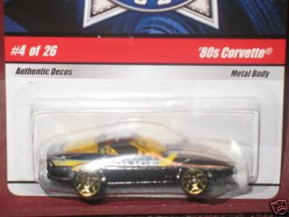 HW Hot Wheels Cop Rods 4 80s Corvette Hotwheels