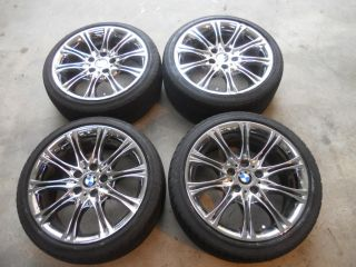 Z4 E36 E46 325 330 18 Inch 18 OEM M Double Spokes Chrome Wheels Rims