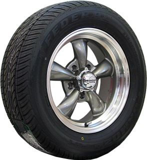 15x6 15x7 GRAY WHEELS RIMS TIRES FORD MUSTANG 1965 1966 1967 1968 1969