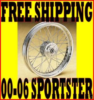 ULTIMA 19 X 2 5 CHROME 40 SPOKE FRONT WHEEL 2000 2007 HARLEY SPORTSTER