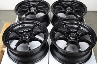 Black Rims Light Weight Scion XA XB Lancer Jetta Alloy Wheels