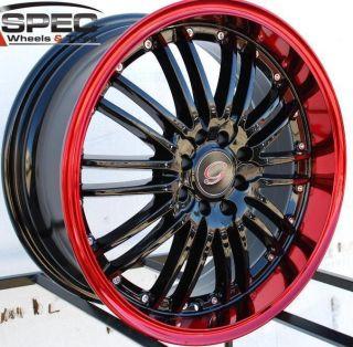 18x8 G Line G820 Wheel 5x110 38 Black Red Rim Fits Malibu G5 G6 Aura