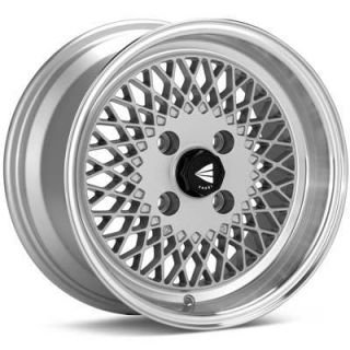 15 ENKEI92 Silver Rims Wheels 15x7 38 4x100 Civic Fit