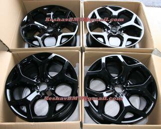 BMW E70 X5 E71 X6 Style 214 Y spoke Black 20 wheels rims 3.0 4.8, 5.0
