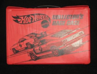 70s Mattel Hot Wheels Red Line Collectors Case 12 Cars