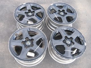3000gt 91 VR4 All 4 17 Rims Wheels Set Painted Black